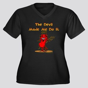 The Devil Made Me Do It Plus Size T-Shirt