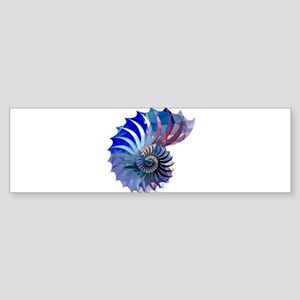 Mosaic Polygon Blue & Purple Nautilus Shell Bumper