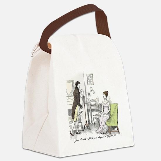 Jane austen mr bingley Canvas Lunch Bag
