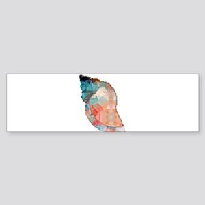 Mosaic Polygon Orange & Turquoise Conch Shell Bump