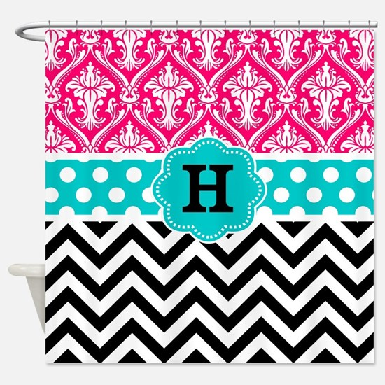 Cute Zig zag Shower Curtain