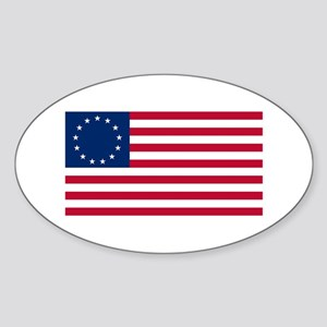 Betsy Ross Flag Oval Sticker