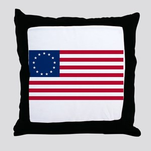 Betsy Ross Flag Throw Pillow