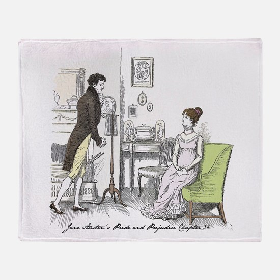 Mr darcy Throw Blanket