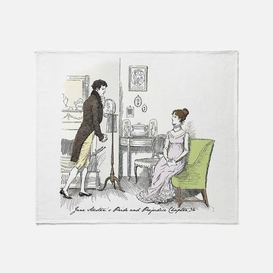 Funny Jane austen Throw Blanket