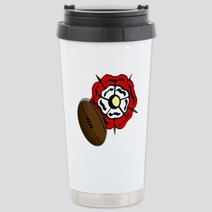 England Rose Rugby Stainless Steel Travel Mug