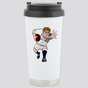 English Rugby Forward Stainless Steel Travel Mug