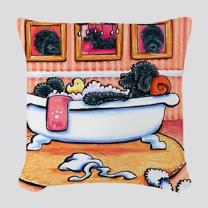 Just 5 More Minutes Woven Throw Pillow