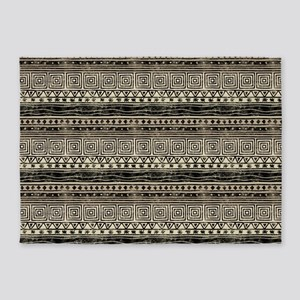 African Pattern 5'x7'Area Rug