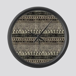 African Pattern Large Wall Clock