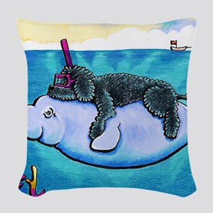 Water Babies Woven Throw Pillow