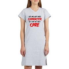 Like I Care bla-red Women's Nightshirt