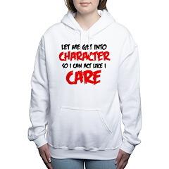 Like I Care bla-red Women's Hooded Sweatshirt