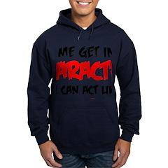 Like I Care bla-red Hoodie