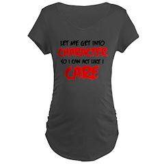 Like I Care bla-red Maternity T-Shirt