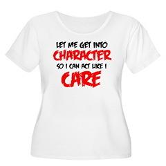 Like I Care bla-red Plus Size T-Shirt