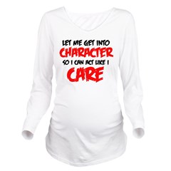 Like I Care bla-red Long Sleeve Maternity T-Sh