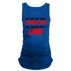 Like I Care bla-red Maternity Tank Top