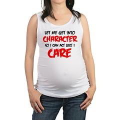 Like I Care bla-red Maternity Tank Top