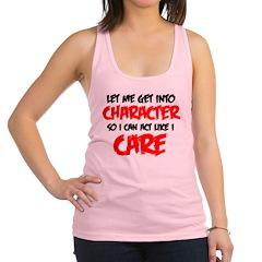 Like I Care bla-red Racerback Tank Top