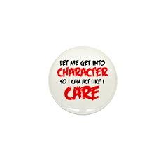 Like I Care bla-red Mini Button (100 pack)