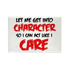 Like I Care bla-red Magnets