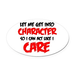 Like I Care bla-red Oval Car Magnet
