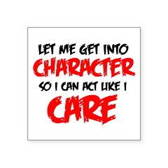 Like I Care bla-red Sticker