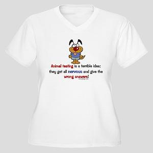 Animal Testing Humor Plus Size T-Shirt