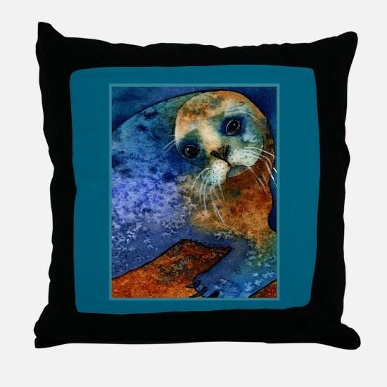 Big-eyed Seal Throw Pillow