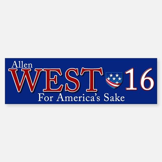 allen west 2016 Sticker (Bumper)