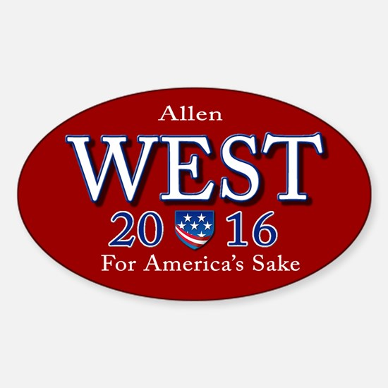 allen west 2016 Sticker (Oval)