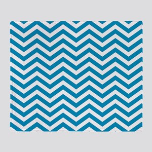 Blue and white chevrons 4 Throw Blanket