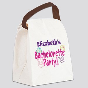 Bachelorette Party (p) Canvas Lunch Bag