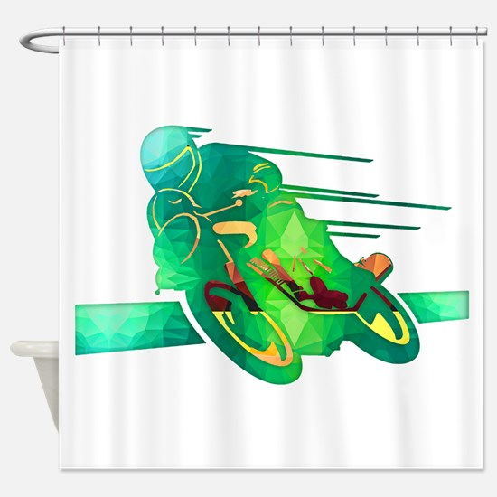 Cute Motorcycle Shower Curtain
