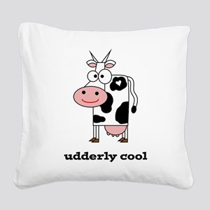 Udderly Cool Square Canvas Pillow