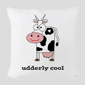Udderly Cool Woven Throw Pillow
