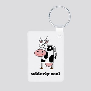 Udderly Cool Aluminum Photo Keychain