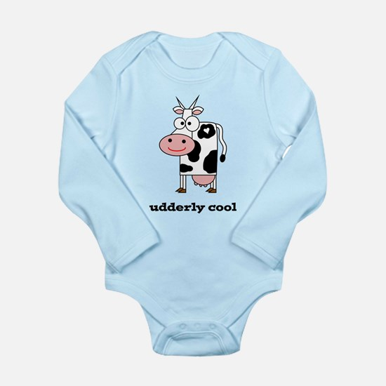 Udderly Cool Long Sleeve Infant Bodysuit