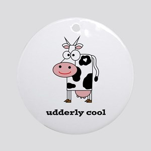 Udderly Cool Ornament (Round)