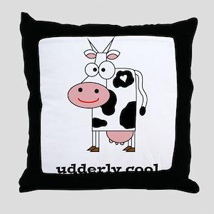 Udderly Cool Throw Pillow