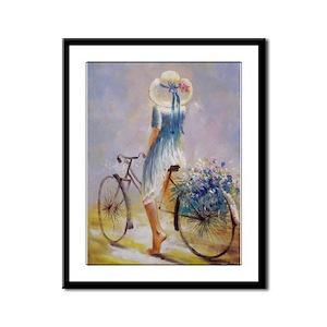 Vintage Bicycle Framed Panel Print