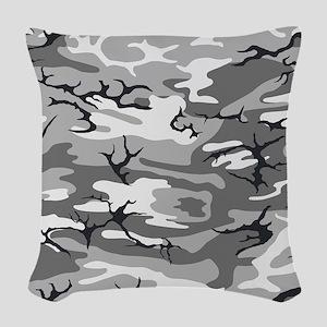 Urban Camo Woven Throw Pillow