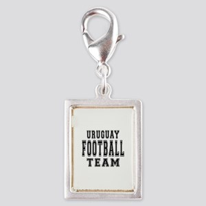 Uruguay Football Team Silver Portrait Charm
