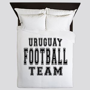 Uruguay Football Team Queen Duvet