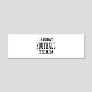Uruguay Football Team Car Magnet 10 x 3