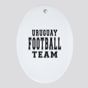Uruguay Football Team Ornament (Oval)