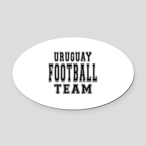 Uruguay Football Team Oval Car Magnet
