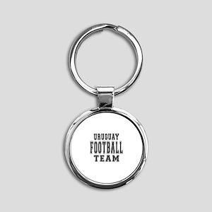 Uruguay Football Team Round Keychain