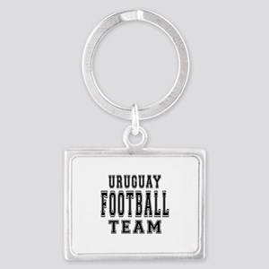 Uruguay Football Team Landscape Keychain